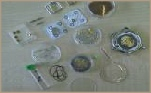 thousands of watch parts in stock